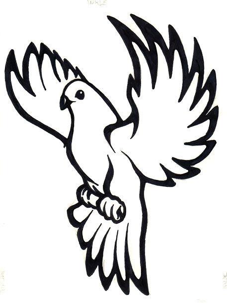 Cool Dove Tattoo Design