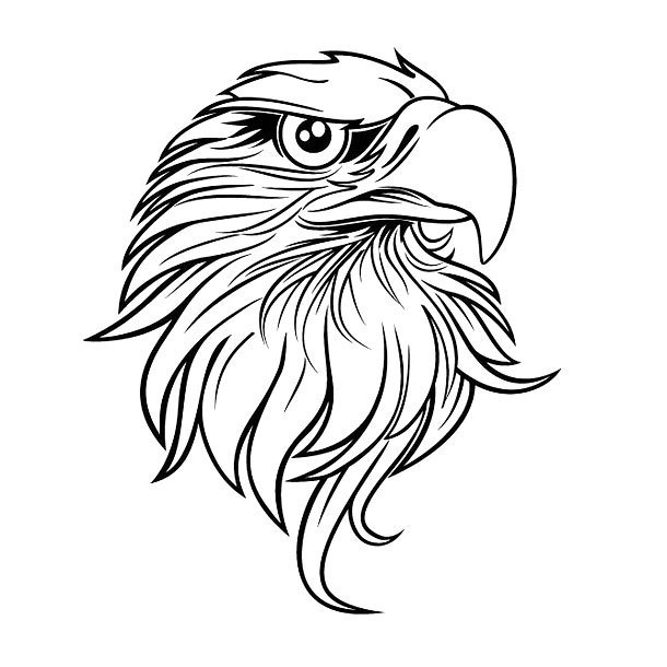 Cool Eagle Head Tattoo Design