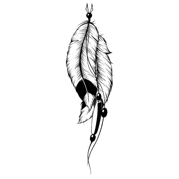 Cool Indian Feathers Tattoo Design