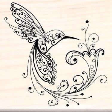 Cool Ornate Hummingbird Tattoo