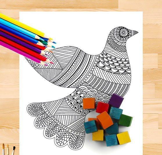 Cool Ornate Dove Tattoo Design