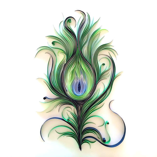 Cool Peacock Feather Tattoo Design