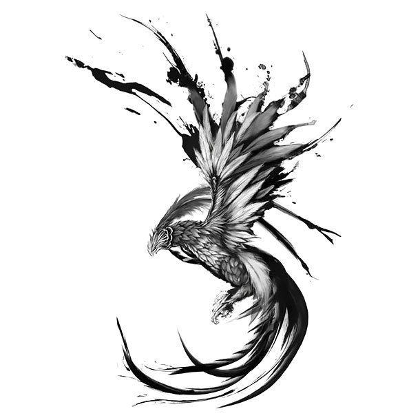 Cool Phoenix Tattoo Design
