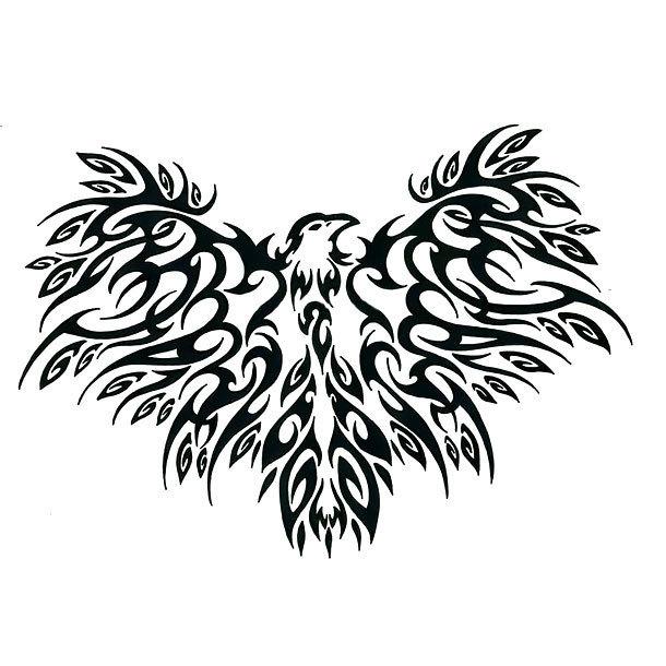 Cool Tribal Crow Tattoo Design