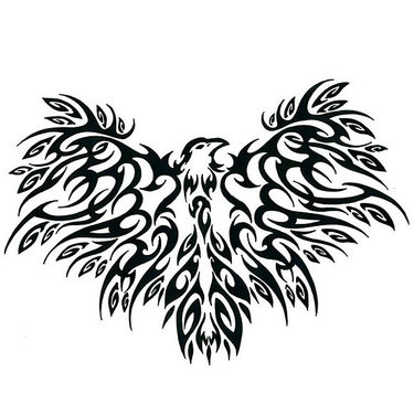 Cool Tribal Crow Tattoo