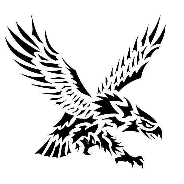Cool Tribal Eagle Tattoo Design