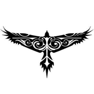 Cool Tribal Hawk Tattoo
