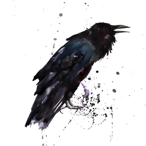 Simple Raven Tattoo Design