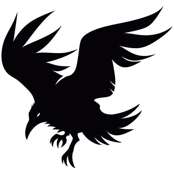 Crow Silhouette Tattoo Design