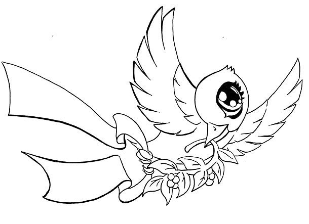 Cute Dove Tattoo Design