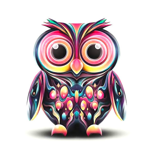 Cute Owl Tattoo Design