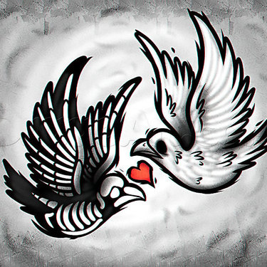 Dead and Alive Dove Tattoo