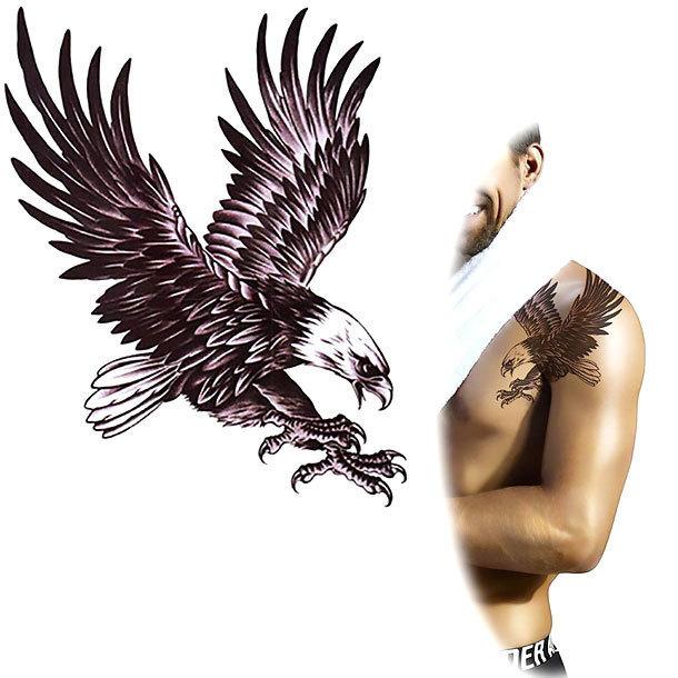 Diving Eagle Tattoo Design