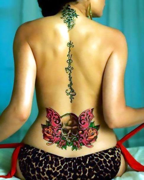 Best Skull on Lower Back Tattoo Idea