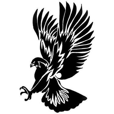 Diving Tribal Hawk Tattoo