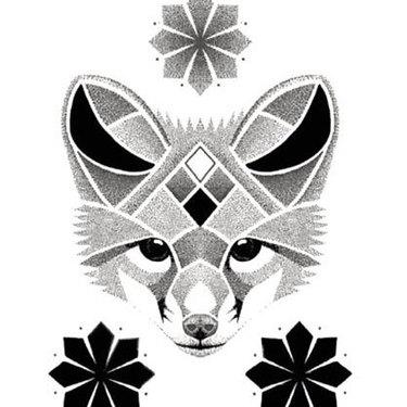 Dotwork Fox Tattoo