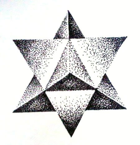 Dotwork Star Tattoo Design