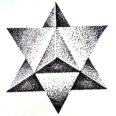 Dotwork Star Tattoo