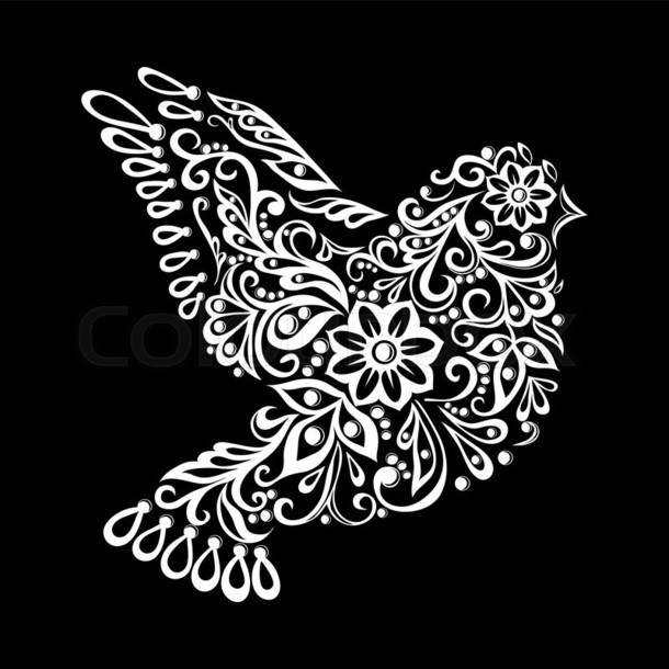 Ornate Dove Tattoo Design