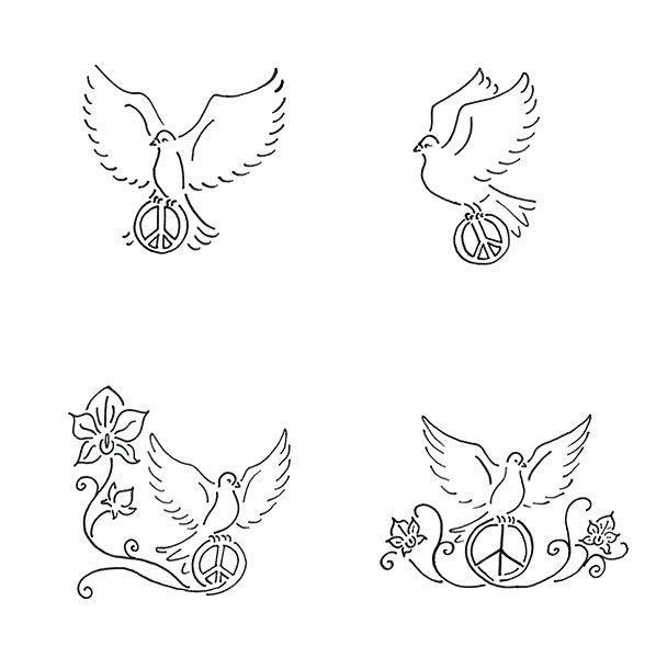 Dove Peace Tattoo Design