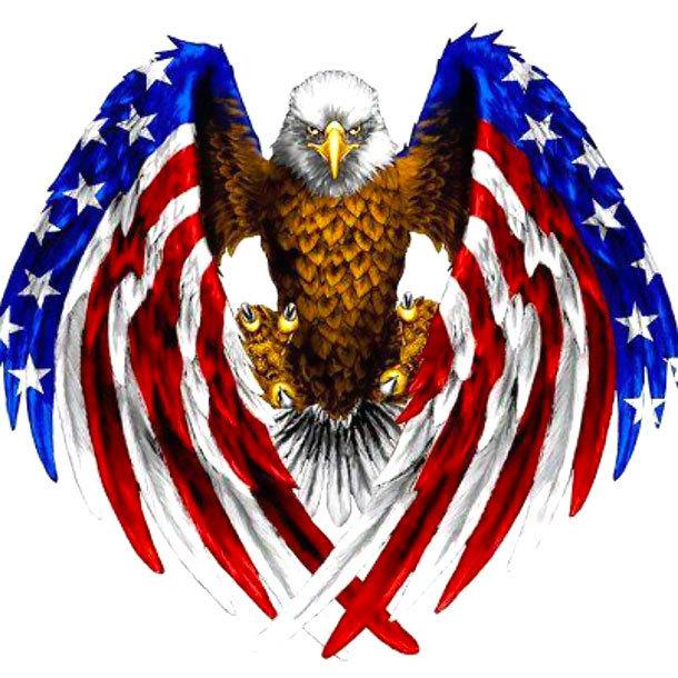 Eagle and American Flag Tattoo Design
