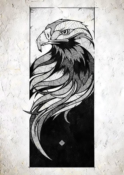 Eagle Portrait Tattoo Design