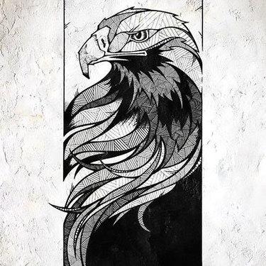 Eagle Portrait Tattoo
