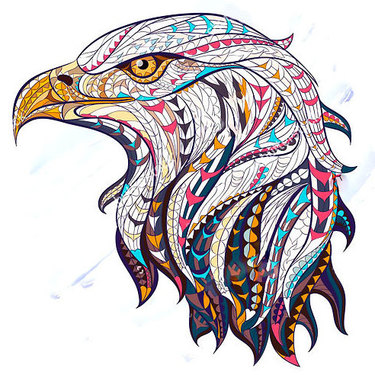 Ethnic Eagle Tattoo