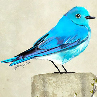 Eye Catching Bluebird Tattoo