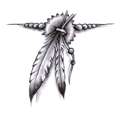 Feather Band Tattoo Design