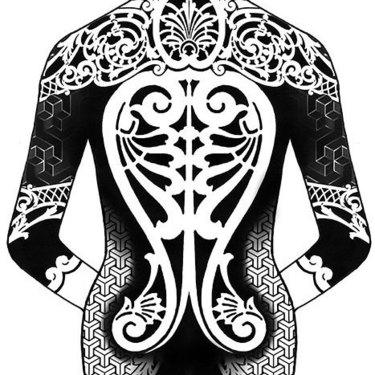 Female Blackwork Tattoo