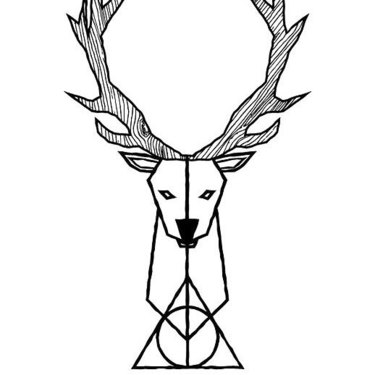 Fine Line Deer Tattoo