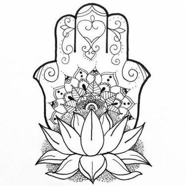 Fine Line Hamsa Tattoo