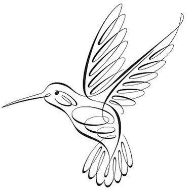 Fine Line Hummingbird Tattoo