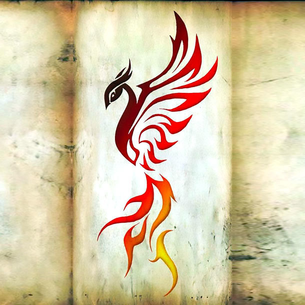 Fire Phoenix Tattoo Design