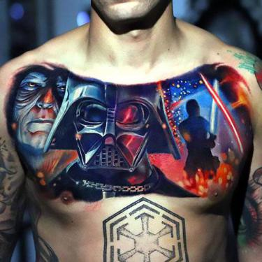 Best Star Wars Chest Tattoo