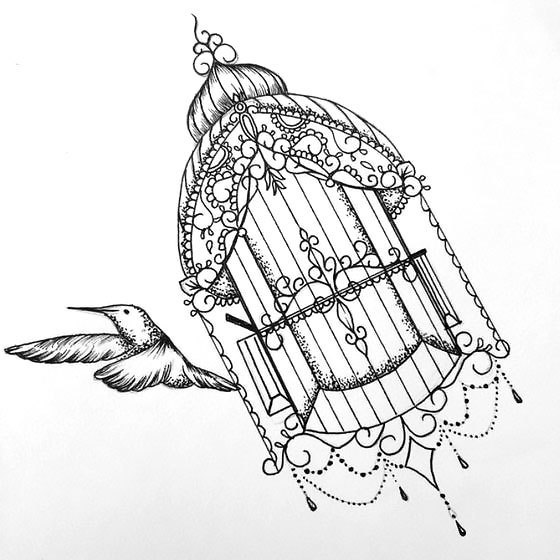 Free Bird Tattoo Design