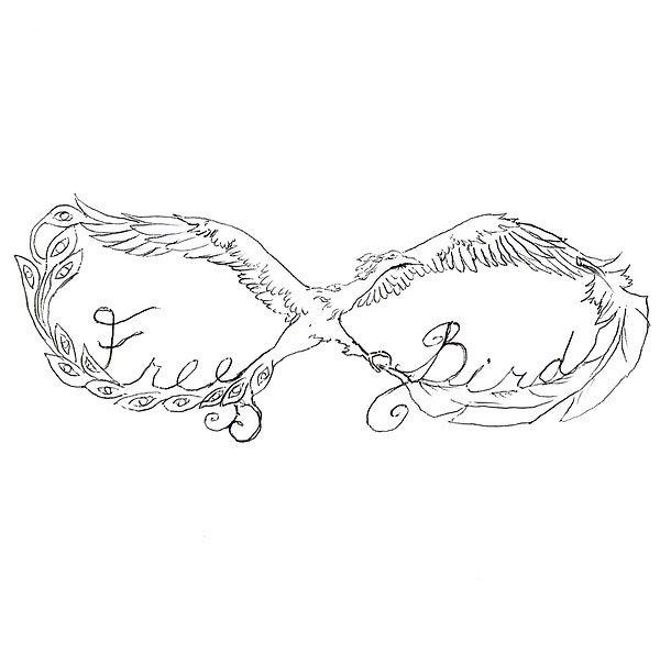 Free Bird Infinity Tattoo Design