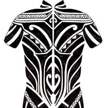 Full Body Blackwork Sketch Tattoo
