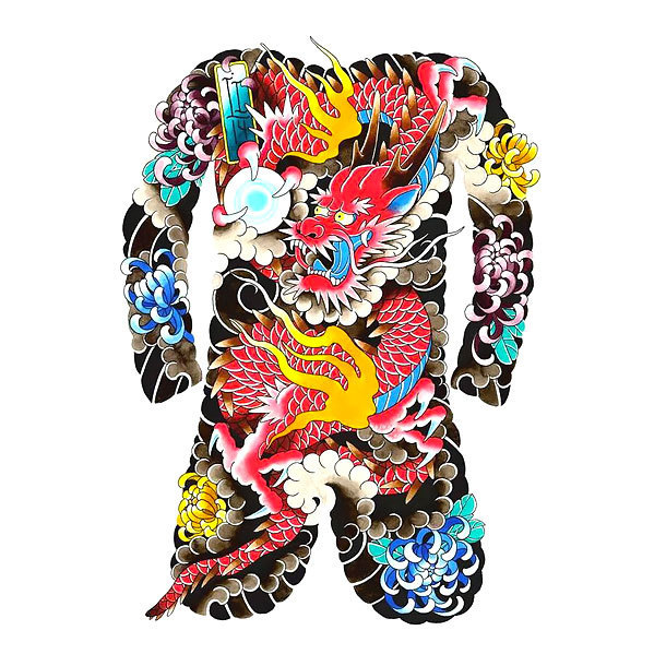 Full Body Oriental Tattoo Design