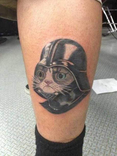 Dart Cat Tattoo Idea