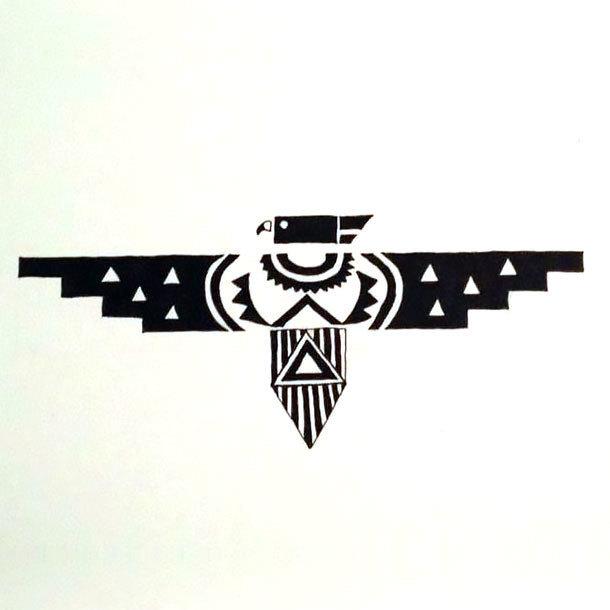Geometric Thunderbird Tattoo Design