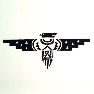 Geometric Thunderbird Tattoo