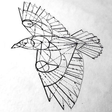 Geometry Crow Tattoo