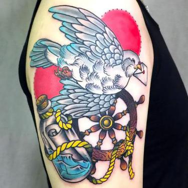 Best Traditional Dove Tattoo