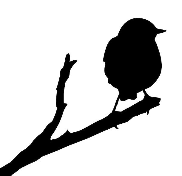 Sparrow Silhouette Tattoo Design