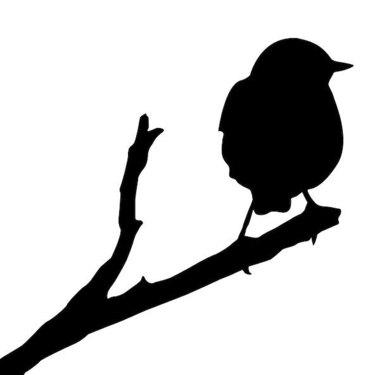 Sparrow Silhouette Tattoo