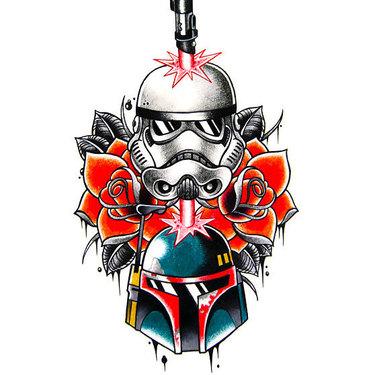 Star Wars Tattoo In Traditional Style Tattoo