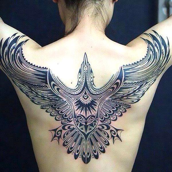 Best Tribal Phoenix Tattoo for Girls Tattoo Idea