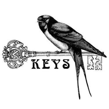 Swallow on Key Tattoo